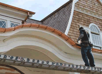 image of gutter installation Long Island